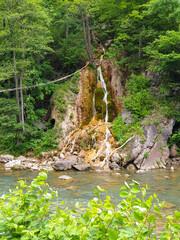 Beautiful Sipote waterfall in Transylvania Romania