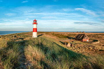 Wall Mural - Lighthouse List Ost on the island of Sylt, Schleswig-Holstein, Germany