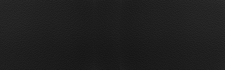 Panorama of Close - up Black leather texture and seamless background