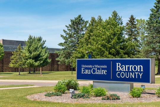 University of Wisconsin Eau Claire Barron County Entrance Sign