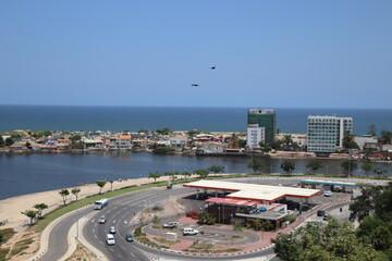 Canvas Prints Countryside aerial view of Luanda - Ilha de Luanda