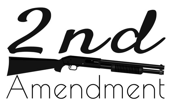 Black shotgun with 2nd amendment message