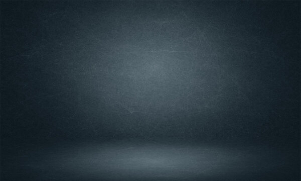Abstract dark blue photo backdrop background studio