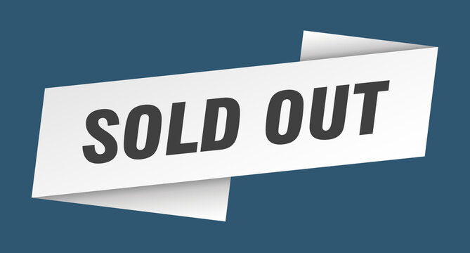 sold out banner template. sold out ribbon label sign