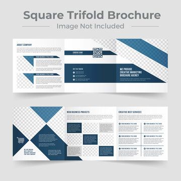 Company Business  Square Trifold brochure template