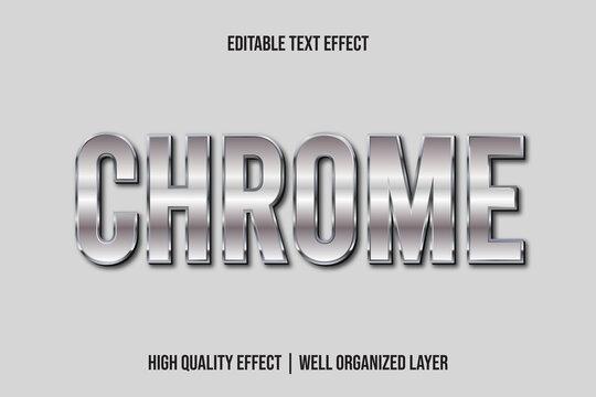 Chrome, 3d Metallic Text Effect Style