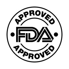 Fototapeta U.S. Food and Drug Administration FDA approved vector stamp