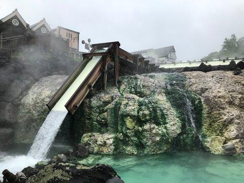 Kusatsu Hot Spring in Kunma, Japan