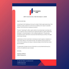 Corporative and official letterhead design template