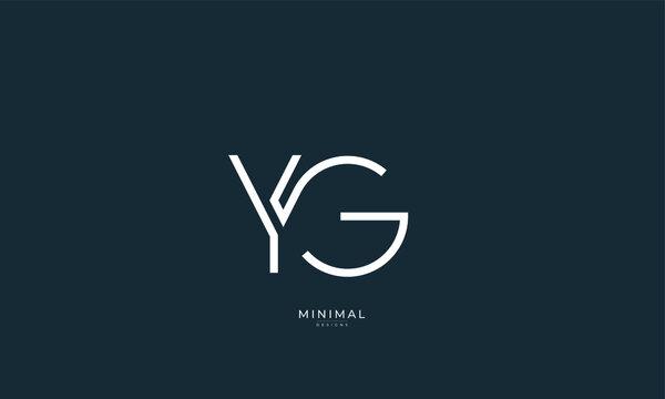 Alphabet letter icon logo YG