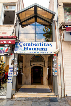 istanbul, turkey - AUG 18, 2015: one of the most beautiful historical hammam in turkey. located on divan youlu street in cemberlitas district