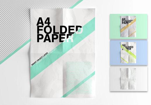 Mockup of a Paper Sheet