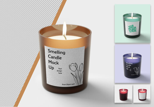 Mockup of a Candle