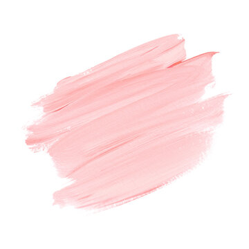 Pink Make-up paint element art design. Logo Brush Paint Stroke Background. Image.