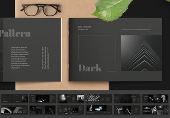 Black Portfolio Layout