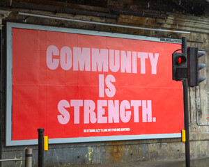 Community is Strength Poster in London