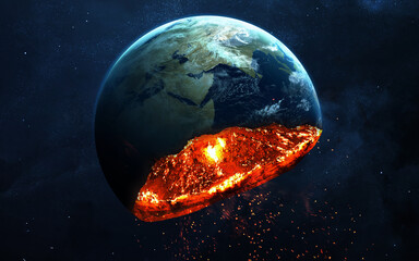 Wall Mural - Explosion of Earth planet