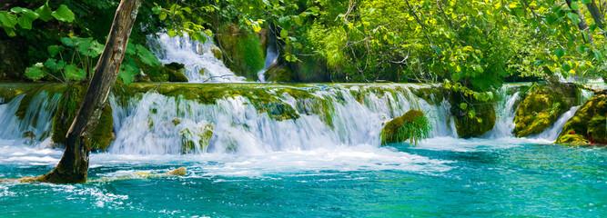 Fototapeta It's Plitvice Lakes National Park, the largest national park in Croatia, UNESCO World Heritage