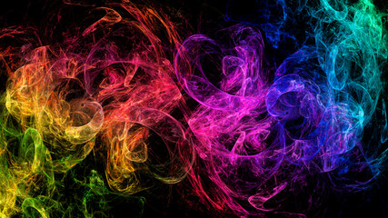 Abstract space multicolored neon м. Fractal pattern for creativity and design. Use monitor desktop