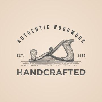carpenter woodwork vintage logo