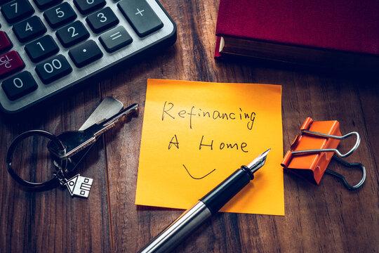 refinancing word on note