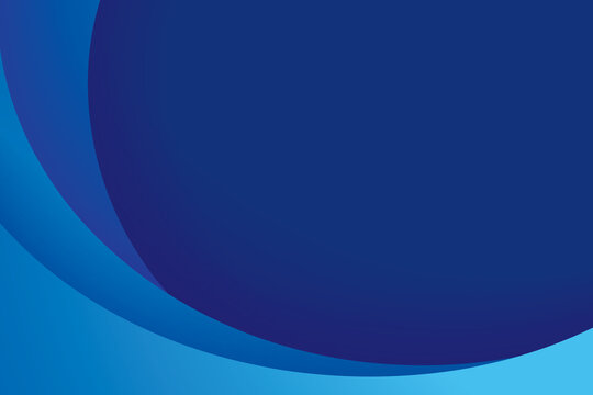 Paper layer circle blue abstract background. Curves and lines use for banner, cover, poster, wallpaper, design with space for text.