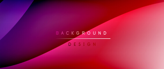 Fluid gradient waves with shadow lines and glowing light effect, modern flowing motion abstract background for cover, placards, poster, banner or flyer Fototapete