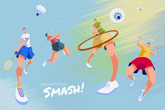 Badminton promotion poster