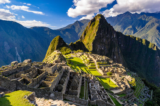 It's Machu Picchu, a Peruvian Historical Sanctuary in 1981 and a UNESCO World Heritage Site in 1983. One of the New Seven Wonders of the World
