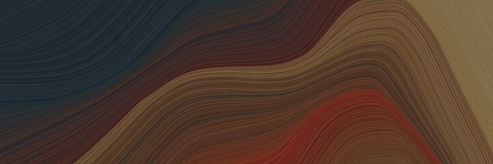 abstract dynamic header with old mauve, very dark violet and pastel brown colors. fluid curved flowing waves and curves for poster or canvas - 358728475