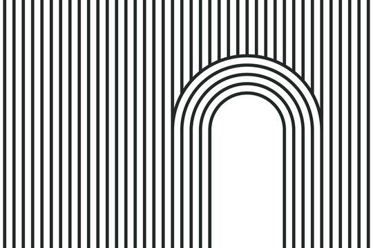 Modern line pattern, vector background.