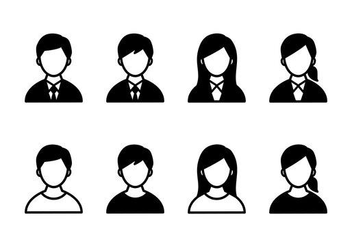 男性と女性のアイコンのセット/ビジネスマン/人