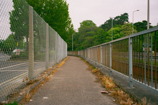An urban empty walk way in Bracknell, England