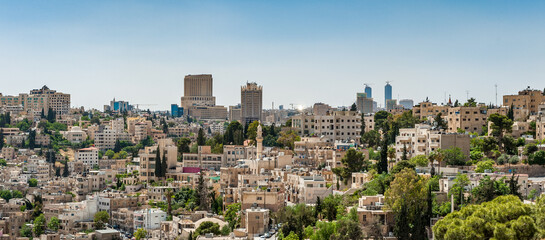 It's Architecture of Amman, the capital and the largest city of Jordan