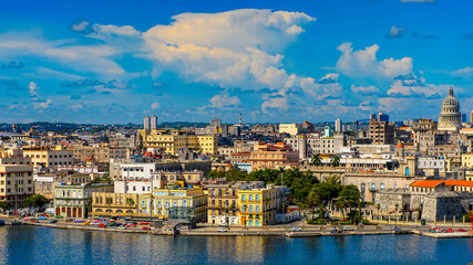 Wall Murals Havana Panoramic view of Havana, the capital of Cuba
