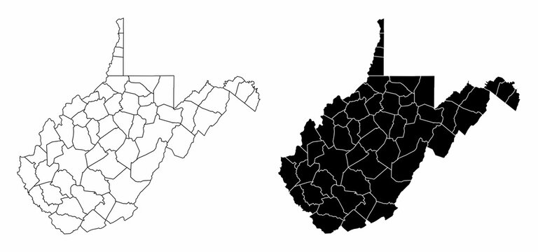 West Virginia county maps