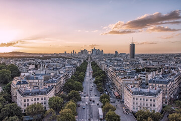 Wall Mural - Paris city panorama in the afternoon