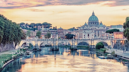 Wall Mural - The city of Rome in the afternoon