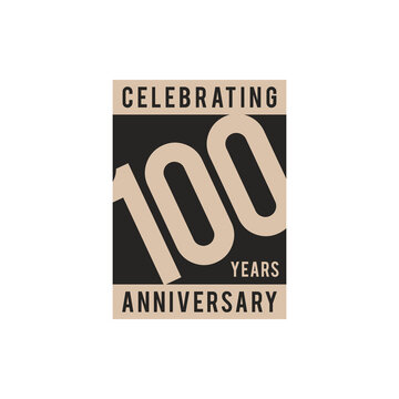 100 Years Anniversary Celebration Vector Logo Design Template