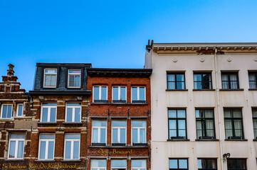 Photo sur Plexiglas Antwerp It's Architecture of the Old Town of Antwerpen, Belgium