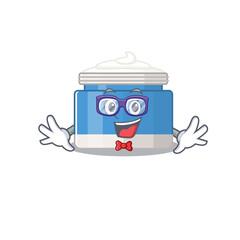 Wall Mural - A cartoon drawing of geek moisturizer cream wearing weird glasses