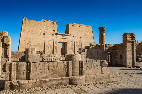 It's Ptolemaic Temple of Horus, Edfu (Idfu, Edfou, Behdet), Egypt.