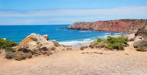 Amado beach at west algarve, atlantic ocean, Portugal