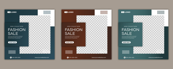 Obraz Fashion sale social media post template  - fototapety do salonu