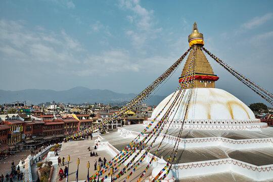 Buddhanath stupa in Kathmandu, Nepal