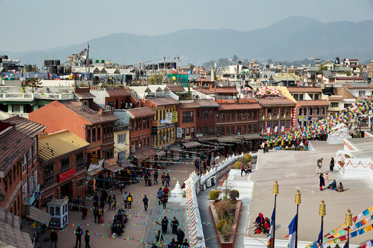 Kathmandu street from the top, Nepal