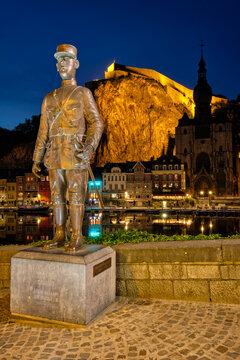Charles de Gaulle statue in Dinant, Belgium