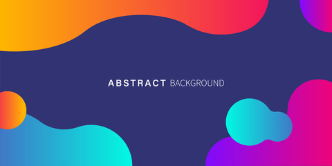 Liquid gradient abstact background. Vector isolated illustration. Web banner. Fluid gradient shapes composition.
