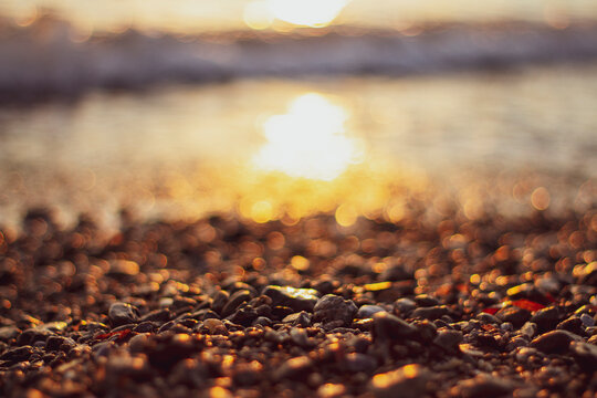 Slak stones by the coast