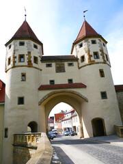 Nabburger Tor Amberg Bayern Stadtmauer Ringmauer Stadt historische Altstadt  Oberpfalz Ostbayern  historisch Deutschland Europa